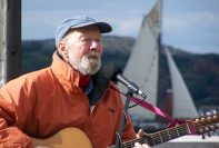 Pete Seeger photo by Donna Crawford for the Clearwater Organization