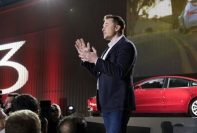 Elon Musk at Tesla Model 3 launch