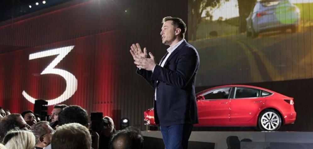Elon Musk at Tesla Model 3 launch