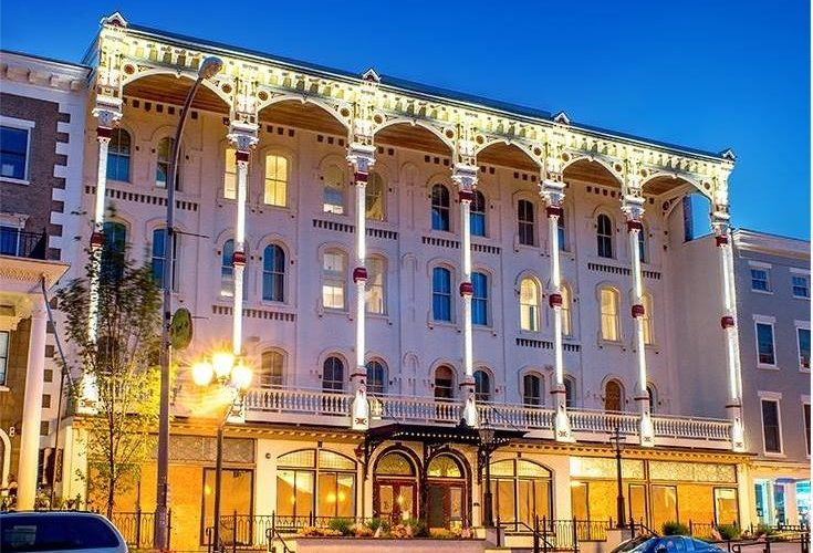 Adelphi hotel at night